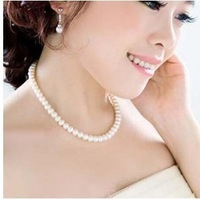 Sunshine jewelry store fashion belief simulated Round Pearl Necklace