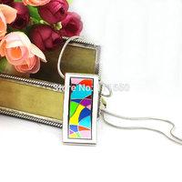 Newest Silver Strip Colorful Rainbow Design Enamel Jewelry Pendant Necklace,1pcs/pack