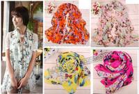 Hot Sale 1pcs Fashion Butterfly scarf women's scarf long shawl spring silk pashmina chiffon infinity scarf free shipping 671642