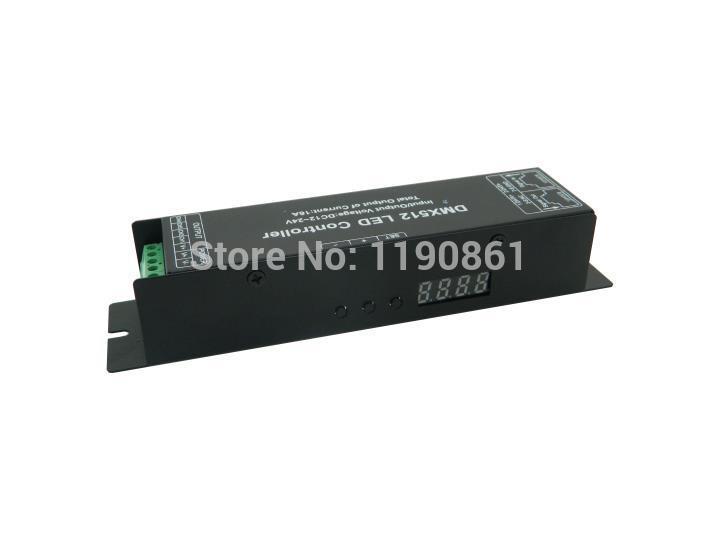 DC12V -24V 4A 4CH led digital dmx512 controller Decoder RGB Led Controller for rgb led strip(China (Mainland))