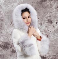 Fall Warm Luxury Raccoon Fur Collar Overcoats Ladies Imitation Rabbite Fur Outerwear Jacket Women's Fur Coat Plus Size A886