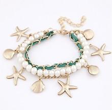 popular silver seashell bracelet