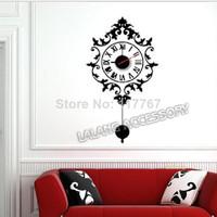 1pc/lot 2014 New DIY Art Fashionable and Creative Design Home Decor Wall Clock Interior Decoration wall poster Clock 671786