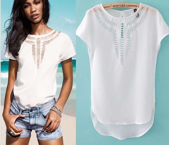 Free Shipping Women Blouse Chiffon Shirt Plus Size Tops For Women