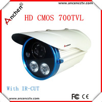 High Resolution Video Camera 1/4' Color HD CMOS 700TVL  2Pcs IR  Array  LED   Bullet CCTV Camera