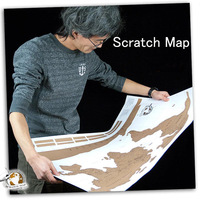 Free shipping New Arrival 1pcs Travel Life Explore Scratch Map 82*58 cm World Map