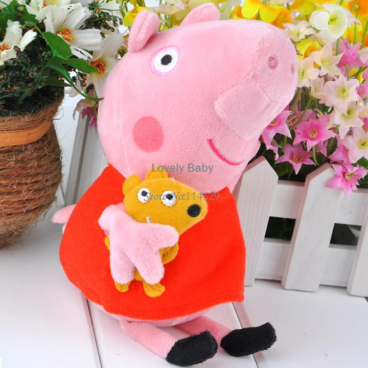"New Arrival Cute Peppa Pig Plush Toys,Peppa Pig Stuffed Peppa Plush Dolls Teddy Stuffed Toy Kids Gift 19cm (7.4"") B11 20011(China (Mainland))"