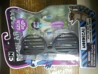 Hot!!!!! Birthday gift action finger model toy doll  regular show MORDECAI SUNGLASSES