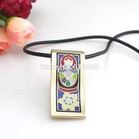 Newest Strip Goden Colorful Russian Dolls Design Enamel Jewelry Pendant Necklace,1pcs/pack