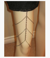 FREE SHIPPING B367 SILVER PLATED LEG CHAINS 3 LAYERS LEG CHAINS JEWELRY 3 COLORS