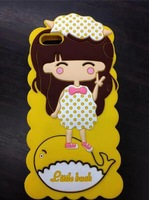 5pcs girl model  Case   For iphone 5 5S+ protective film as gift  for  Free shipping