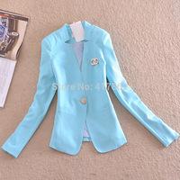 Free shipping u&me new 2014 spring and autumn Korean fashion high-end one button plus size slim women casual blazer suit