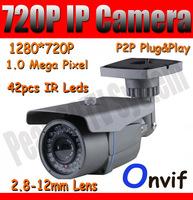 720p Outdoor IP Camera 1280*720 HD Network Camera ONVIF 2.8-12mm Lens 1.0 MP IR CUT Day&Night P2P Security Camera POE optional