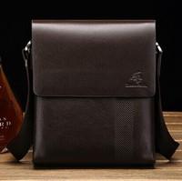 Business Men's leather shoulder bag Messenger bag