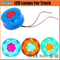 10pcs/lot New 2014 Round Truck Trailer Lights LED Stop/Turn/Tail Light Car Led Lamp Round  24V LED Truck Tail Lamps/Light