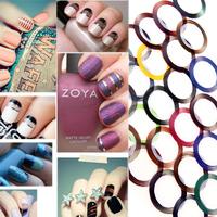 Fashion 30 Mix Color Metallic Yarn Line Rolls Striping Tape Nail Art Beauty Decoration Sticker