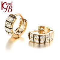 New 2014 Fashion jewelry LOVE Imitation diamond heart gold earrings women