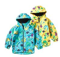 2014 new casual Dinosaur Cartoon Children Outerwear Kids Coat Boy outdoor Jacket Autumn Winter clothing