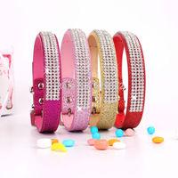 20pcs/lot New 2014 Shiny pet collar 4 rows white diamond dog collars Fashion pet necklace for dogs BJ-001