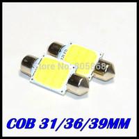 3W Super Bright COB led light car Interior lamp White Festoon Dome 31mm 36mm 39mm 41mm Car Interior Lights Bulb FREE SHIPPING