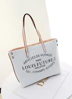 New Fashion Brand Canvas Bag Handbag Women Shoulder Bag Large Tote sac Louis imitation High Quality