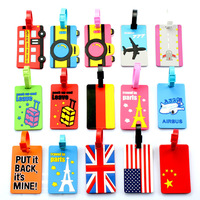 Flight Travel Luggage Name Tag Baggage Airplane Enamel PVC Tag Designs Free Shipping by DHL 200pcs/lot