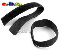 100pcs Reusable Nylon Velcro Cable Ties Hook & Loop Magic Tape #S0035(Black)