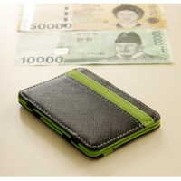 New Fashion Men Magic Money Clip Men Wallet Zero PU Cheap Wallets Magic Bag Male Pocket Purse Care Holders