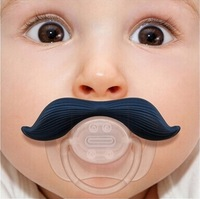 New arrival High Quality Funny Infant Baby Mustache Pacifier birthday gifts 3 style