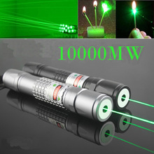 2014 Newest Burn Match Professional Powerful 10000MW Focusable burning Green Laser Pointer Pen lazer pointer 10000m(China (Mainland))