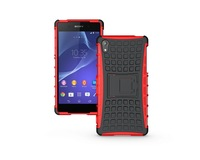 Strong Shock proof  Defender Armour Case For Sony Xperia Z2  Tough Case TPU gel silicon +PC case Stand via free shipping