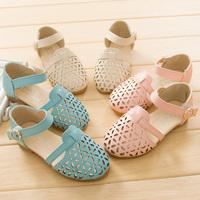2014 kids sandal shoes cutout princess single shoes female child sandals free shipping