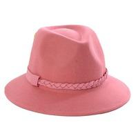 Wholesale 2014 Women Winter Wool Felt Fedora Hats Womens Fedoras Caps Lady Spring Trilby Cap Ladies Autumn Wide Brim Felt Caps