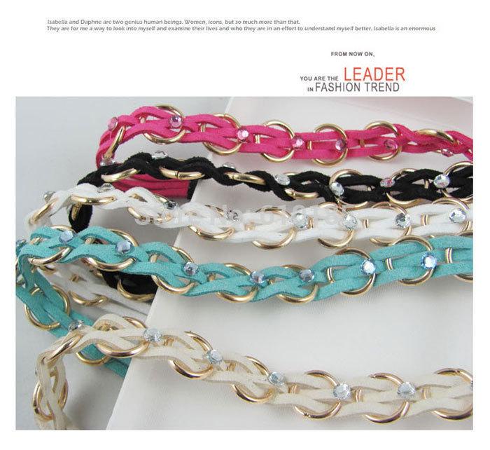Free Shipping Elastic hair band plaited headband chain head wrap(China (Mainland))