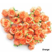 DIY Craft Supplies, Artificial Rose Flower Head for Wedding Chiristmas Party DIY Decoration.Orange 100pcs/lot,Free Shipping