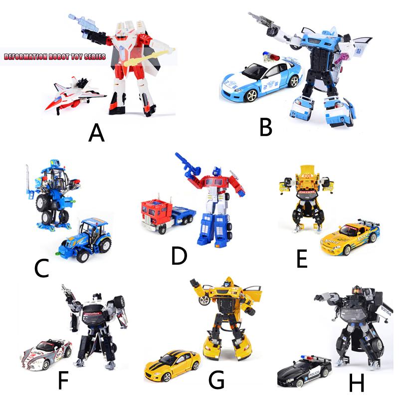 Transformation automobiles, robots jouets pour enfants& garçons& jeunesse, action figure robot jouet voiture de police bébé. 8 types de simulation haute jouets modèle