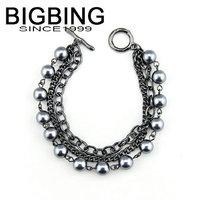 BigBing  jewelry Fashion pearl bracelet fashion chainbracelet fashion jewelry nickel free Free shipping B415