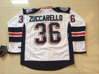 2014 Stadium Series New York Rangers Jerseys #36 Mats Zuccarello White Ice Hockey Jersey Embroidery Logos,100% Stitched