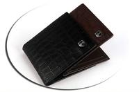 Wholesale New Arrival Alligator Men's Wallet PU Leather Fashion short design wallet for man male leather wallet/purse