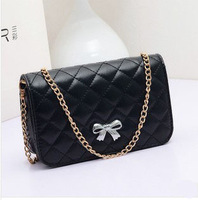 2014 Hot Selling ! Mini fashion zipper small bags Bowknot Messenger bag  women pu leather cute handbags  free shipping TY087