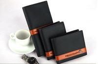 Wholesale Brand Genuine Leather Men's Long Wallet PU leather short design wallet for men leather commercial wallet/purse male
