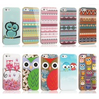 Cute National Pattern Design Up Down Flip PU Leather IMD TPU Protective Phone Case for iPhone 4 iPhone 4s Cover Bag