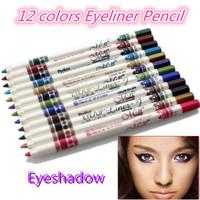 Brand 12 Colors/set Waterproof Eyebrow Eye Make Up Eyeliner Pencil Beauty Pen Lip Sticks Cosmetics Eyeshadow Makeup Eye Liner