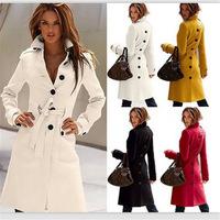 Extravagant European Winter Casaco Cashmere Women Long Coat 2015 Wool Coats Outwear casimira casacos femininos sobretudo casaco