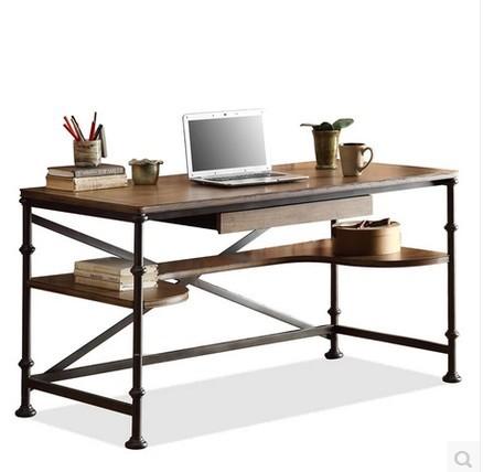 Style de pays d 39 am rique meubles anciens en bois massif for Meuble d ordinateur bureau en gros