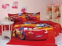 Free Shipping 100% cotton reactive print child 3 pcs bedding set one bedsheet +one duvet cover +one pillowcase home textile