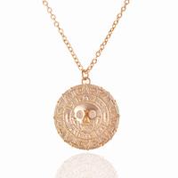 Pirates of the Caribbean Jack Sparrow Aztec Coin Unisex Pendant Chain Necklace Wholesale 24pcs/lot