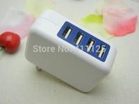 20pcs New 4 port USB Charger 5V 3A mutil function Fast charger US plug for Tablet / Smartphone / Digital Camera