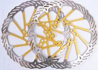"1Pair  Newest AVID G3CS Yellow bicycle brake disc Rotors MTB bike brake disc Rotors 160mm 6""  free shipping"