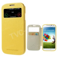 Mercury Wow View Window Smart Leather Card Slot Case For Samsung Galaxy S4 SIV I9500 Cover for Galaxy S4 SIV Freeshipping